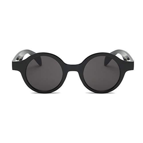Idyandyans Frauen-Kreis Runde Kunststoff-Rahmen Sonnenbrillen UV-Schutz Shades Brillen Female Wandern Sonnenbrillen -