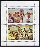 Bernera 1981? Wild West perf set of 2 values (32p & 68p) u/m AMERICANA INDIANS JandRStamps