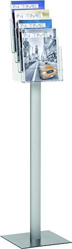 helit H6813502 Prospektständer A4 4 Fächer Höhe 124,5 cm Metall H6813502 von helit