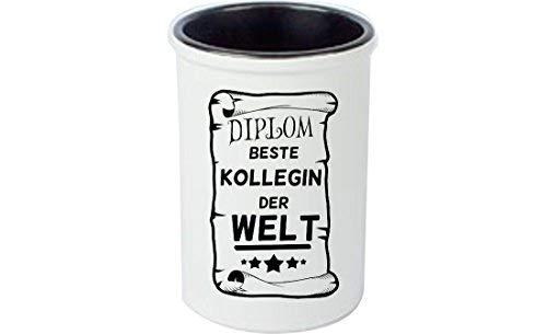 Keramikbecher, Stifte Becher, Vase. Diplom Beste Kollegin der Welt