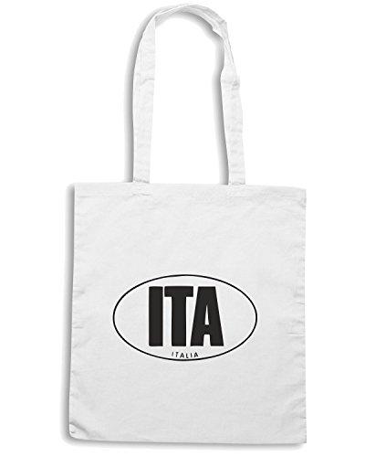 T-Shirtshock - Borsa Shopping TSTEM0045 itaitalia oval crest Bianco