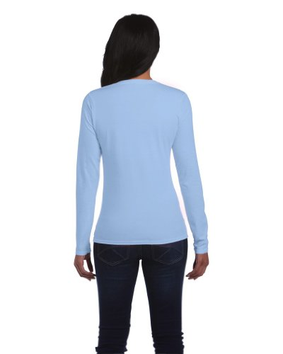 Gildan t-shirt à manches longues 64400L Blue - Light Blue