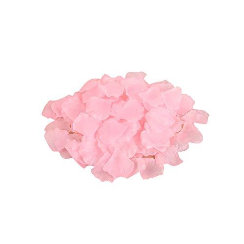 Fesjoy 1000 Pezzi / 500 Pezzi Petali di Rosa Finti, Silk Rose Petali Artificiali per Nozze Festa Decorazioni