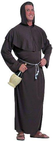 Widmann 3106A - Kostüm Mönch, Gewand mit Kapuze und Gürtel, Gröߟe (Kostüm Wein Flaschen)
