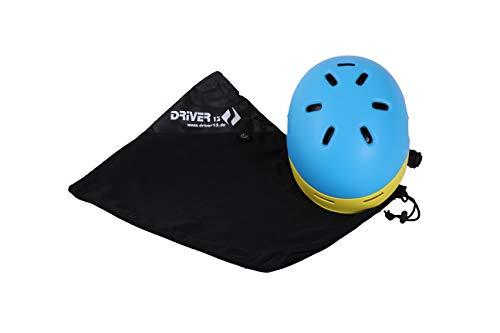 Driver13 Helmbeutel schwarz/weich gepolstert (geeignet für Skihelme, Fahrradhelme, Reithelme)