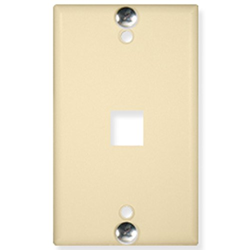 Icc-flush Wall Plate (ICC WALL PLATE, PHONE, FLUSH, 1-PORT, IVORY)