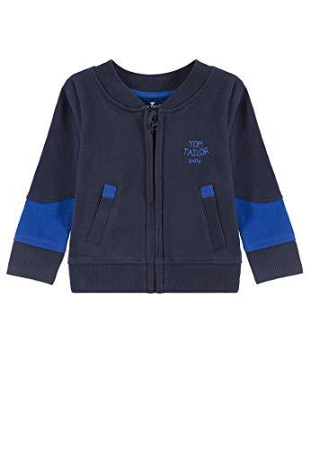 TOM TAILOR Kids Baby-Jungen Placed Print Sweatshirt, Blau (Navy Blazer 3105), Herstellergröße: 74 Knit Blazer-jacke