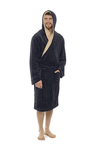 Citycomfort vestaglie da notte in morbido pile con cappuccio da notte (2xl, grigio antracite)