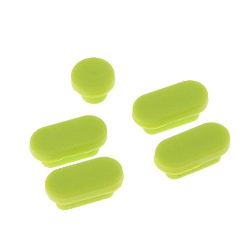 Homyl Bouchon Anti-Poussiere Micro USB Casque a Ecouteurs Branchez Couverture Bouchon - Vert Homyl