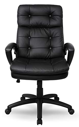 IntimaTe WM Heart Chefsessel, Hohe Rückenlehne Schreibtischstuhl, Kunstleder high Back Bürostuhl mit Armlehnen, 360° Verstellbarer Drehstuhl Ergonomischer Stuhl (Size 4)