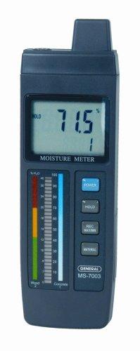 General Tools Feuchtigkeitsmesser, Pin-Art, Digital-LCD mit Balkendiagramm (MMD7003) Bar Graph Meter