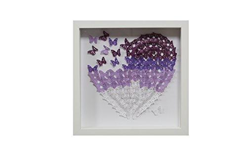 Cuadro Decorativo habitación casa mariposas lilas