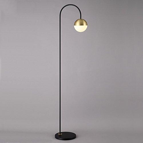 Stehlampe Nordic Design Stehleuchte LED Kreative Wohnzimmer Einfache Mode Moderne Studie Einzel Schlafzimmer Nachttischlampe Wohnzimmer (Farbe : Black) (Mode-design Für Wohnzimmer)