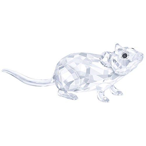 Swarovski mouse figura, cristallo, trasparente, 2.1x 5.6x 1.5cm