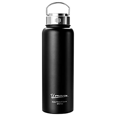 UPhitnis Thermos Flask - BPA free Stainless Steel Water bottle for Coffee, Tea, Cold and Hot drinks - Double Wall Design, Vacuum Insulated Flask for Outdoor Camping Sports - 550/800/1100ml
