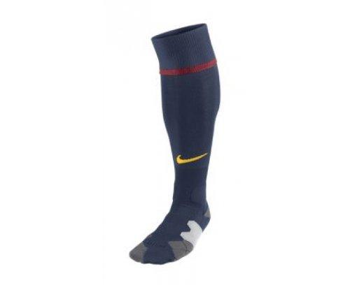 NIKE chaussettes de sport pour homme home away aux couleurs du fC barcelone Bleu - midnight navy/stormred/tour yellow