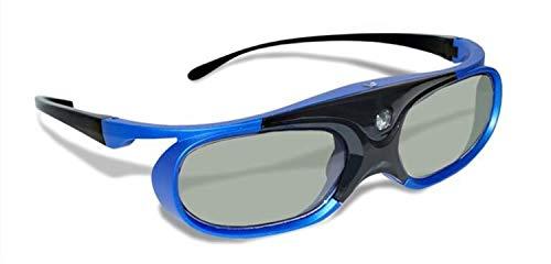 Aktive Shutter wiederaufladbare 3D-Brille Unterstützung 96/120 / 144Hz für XGIMI Z3 / Z4 / Z6 / H1 / H2 Muttern G1 / P2 BenQ Acer & amp;DLP LINK-Projektor (Color : Blue)