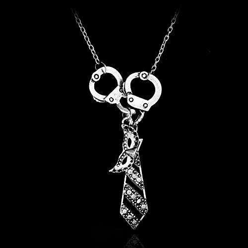 n Charm Halskette Handschellen Maske Krawatte Halskette Anhänger Halskette Geschenk ()
