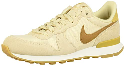 best sneakers fa4e5 94c38 Nike Damen Internationalist Laufschuhe Mehrfarbig (Beach/Wheat Gold/Summit  White 209) 40.5