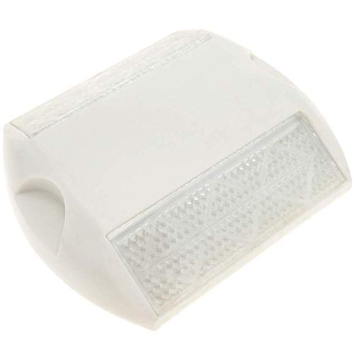 PrimeMatik - Réflecteur routier pour sol en plastique blanc 103 x 89 x 19 mm