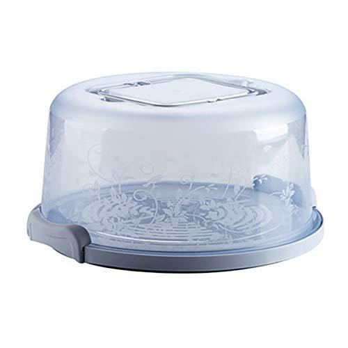 Hilai Tragbare Kuchen und Kuchen-Fördermaschine mit Handgriff Vorratsbehältern Perfekt für den Transport von Kuchen Kuchen Torten oder Anderen Desserts-Light Blue