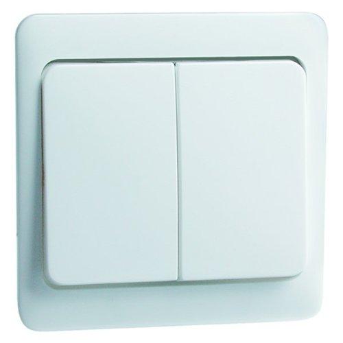 Peha 00187811 Standart Wippe 58 x 49 mm, für Wechselschalter und Doppeltaster, reinweiß -