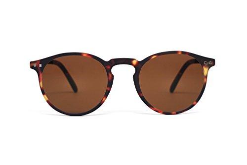 FEEGOO Sonnenbrillen für Männer/Frauen Unisex Eyewear Sunglasses runde Form Braun 100% UV400 Gläser mit Antistatik-Behandlungen überlegene Qualität wasserabweisend