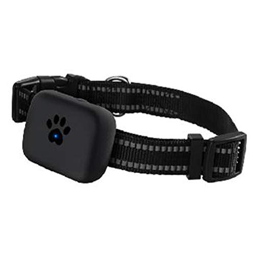 Pet Dog GPS Tracker, Smart Backlight, Geo-Limit Wireless Pet Dog Puppy Kitten Cat Tracking Finder Device 2G Real Time WiFi GSM GPS Locator Fitness Planer, schwarz