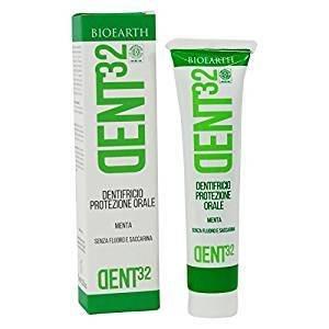 BIOEARTH - Zahnpasta mit Minze - Geeignet für die ganze Familie - Beruhigende - Anti-inflammatory - Fluoride Free & Vegan - 75 ml (Fluorid-zahnpasta Aquafresh)