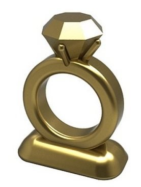 Monopoly Klassik Limited Edition goldene Bonus Hochzeitsring-Spielfigur