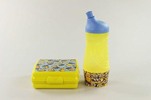 TUPPERWARE Sportfreund klein 415 ml gelb blau Minions Trinkflasche+Sandwich-Box 17193