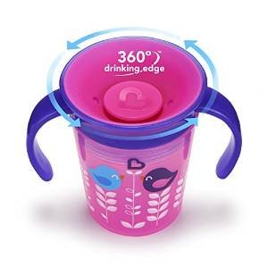 Munchkin 1PK 9OZ DECO MIRACLE TRAINER CUP PINK BIRD