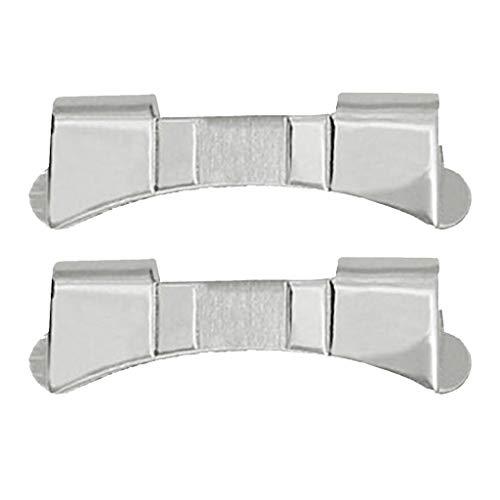 Fenteer 2pz Cinturino Acciaio 19/20/21/22/23/24mm Replacement Stainless Steel Watch Strap - 22 Millimetri