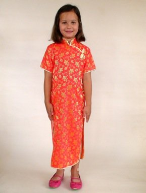 Cheongsam Chinese dressup- fancy dress / multicultural resources (2-4 years)