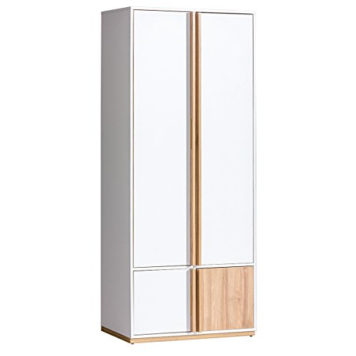 SMARTBett - Armadio per Salotto E1 EVADO, 80 cm, Bianco/Noce
