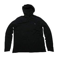 Polo Ralph Lauren Herren Jersey Knit Hoodie Tee - Schwarz - 3X