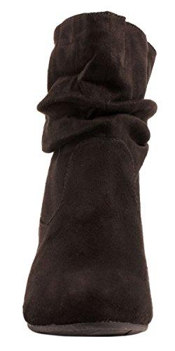 Elara Damen Schlupfstiefel | Bequeme Klassiche Stiefeletten | Flache Boots Schwarz New