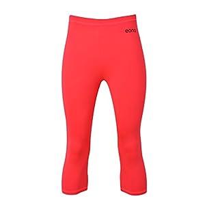 Eono Essentials Women's Active Elastic Mid-Waisted Four-Way Stretch Capri Yoga Pants