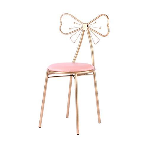Butterfly-tisch-stuhl-set (DONGYUER Iron Art Sessel, Creative Ms Dressing Chair Simple Restaurant Lounge Chair Restaurant Restaurant Butterfly Stuhl,A)