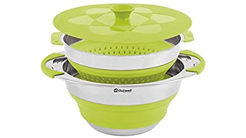 Outwell Collaps cookware with colander & lid, 4,5l green 2015