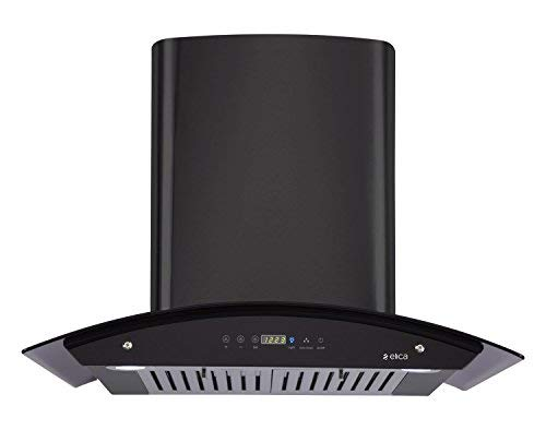 Elica 60 cm 1200 m3/hr Auto Clean Chimney (OSB HAC TOUCH BF 60 NERO, 2 Baffle Filters, Touch Control, Black)