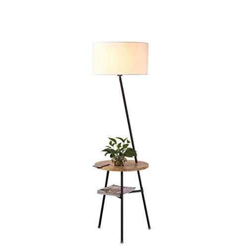 WPCBAA Creativa lámpara de pie de Madera Maciza de Estilo japonés, el nórdico salón sofá lámpara de Mesa, Mesa de Noche, lámpara de pie, Escritorio, lámpara de pie, Color Madera