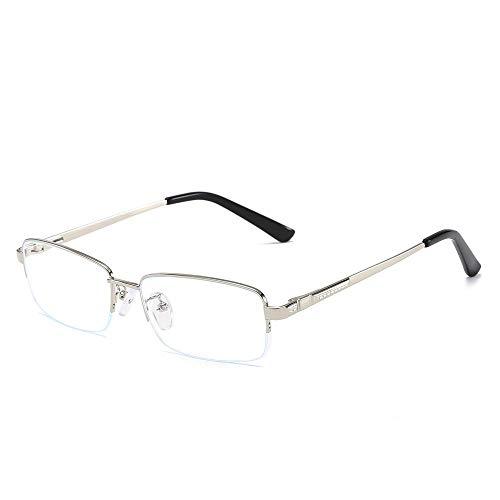 Sonnenbrillen Mode Metall-halbe Felgen-Blaue Gläser Mann-allgemeines Geschäft für Männer und Frauen LUE Shading Glasses für Sutdents/Büroangestellter