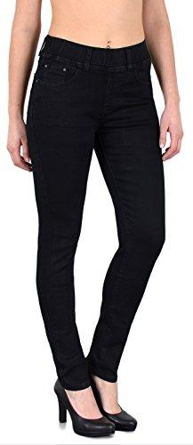 by-tex Damen Jeans Hose Damen Skinny Jeanshose Jeggings mit Gummibund Skinnyjeans bis große Größen J291 (Größe Hosen-jeans Plus)