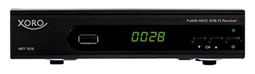 Xoro HRT 7619 FullHDHEVC DVBT/T2Receiver(HDTV, HDMI, SCART, USB 2.0, LAN) Schwarz