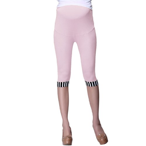 52cc234ec Premamá Ajustable Cinturilla Rayas Pantalones Leggins Pitillo - algodón