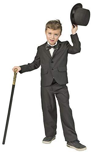 Funny Fashion Geheimagent Gangster Kostüm Jacket für Jungen - Gr. - Kind Geheimagent Kostüm
