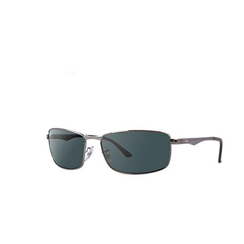 Ray-Ban RAYBAN Unisex Sonnenbrille Rb3498 004/71 Grau (Gestell: Gunmetal Glas: grün), X-Large (Herstellergröße: 64)