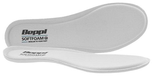 Beppi Softfoam Antibakterielle, weiche Einlegesohle mit Memory Gel, perfekt fürs Wandern, unterstützt beanspruchte Füße, Weiß, Größe 40