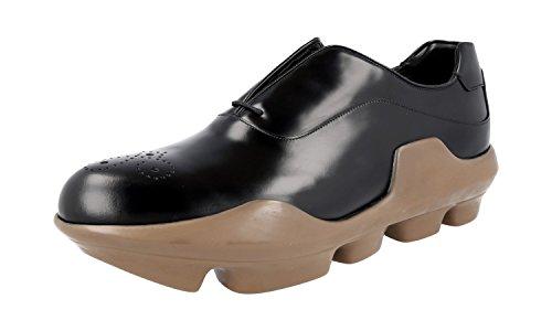 Prada 2EG125 B4L F0632, Herren Schnürhalbschuhe, Schwarz - Schwarz - Größe: 42 - Prada Schuhe Männer Kleid